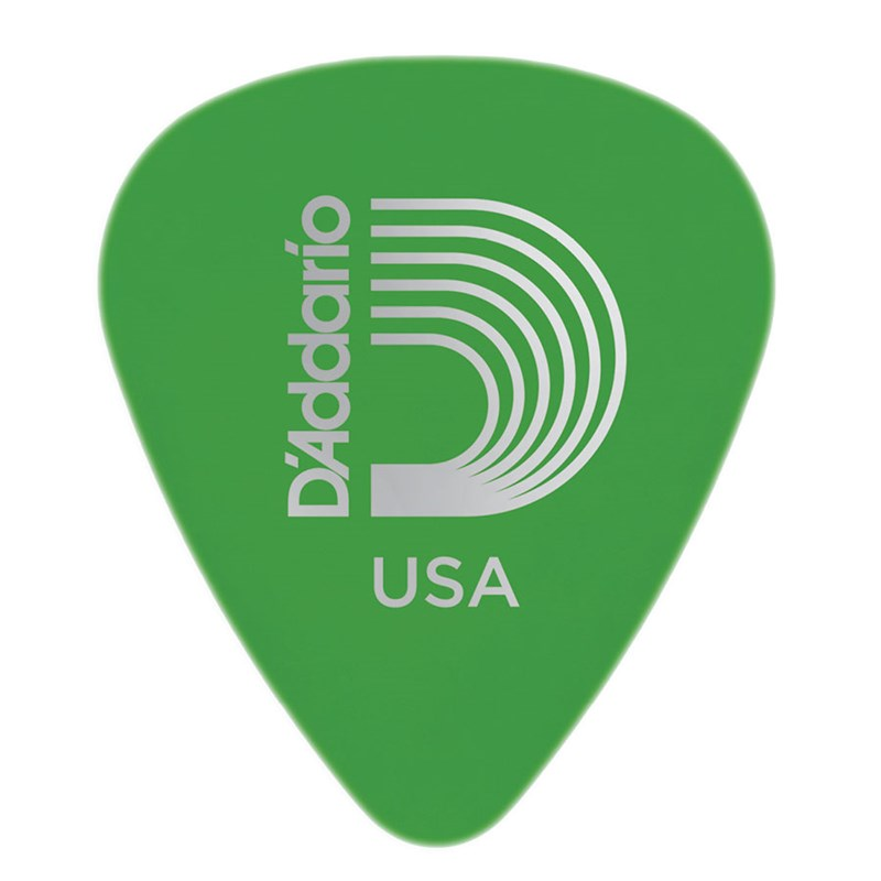 D'addario Planet Waves 1DGN4 Duralin Standard Guitar Picks Medium 0.85mm Green