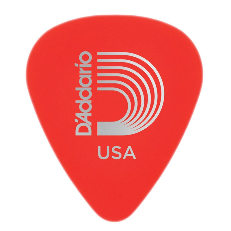 D'addario Planet Waves 1DRD1 Duralin Standard Guitar Picks Super Light 0.50mm Red