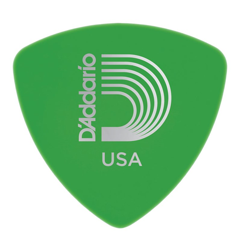 D'Addario Planet Waves 2DGN4 Duralin Wide 0.85mm Medium Guitar Pick Green