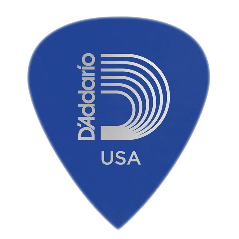D'Addario Planet Waves 6DBU5 Duralin Precision Medium/Heavy 1.0mm Guitar Pick Blue