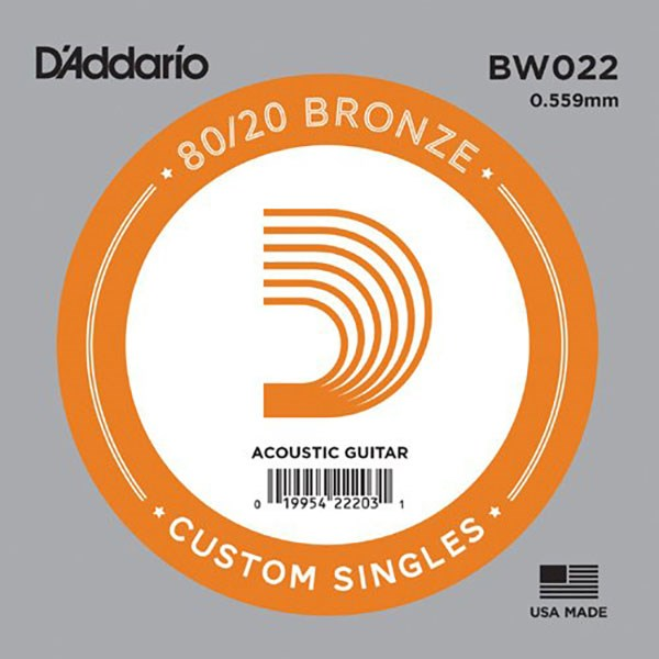 D'Addario BW022 80/20 Bronze Guitar Strings