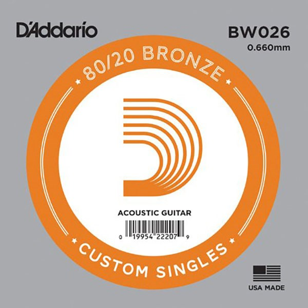 D'Addario BW026 80/20 Bronze Acoustic Guitar Strings