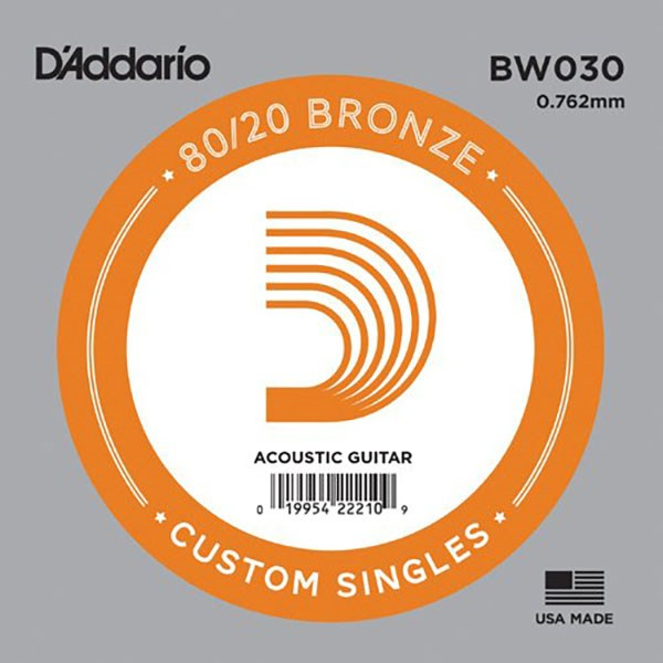 D'Addario BW030 80/20 Bronze Guitar Strings