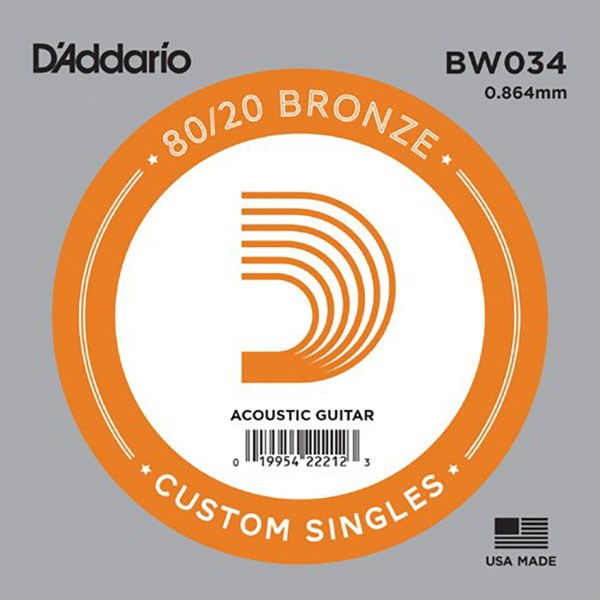 D'Addario BW034 80/20 Bronze Guitar Strings
