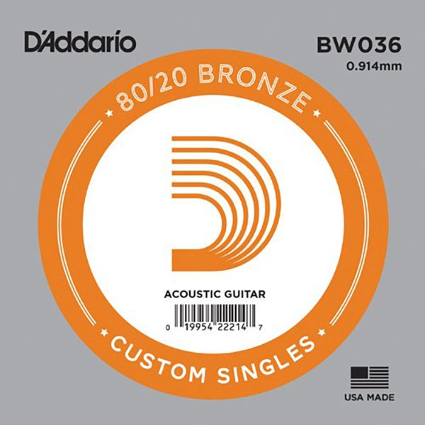 D'Addario BW036 80/20 Bronze Guitar Strings