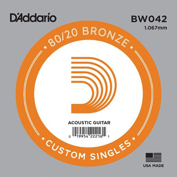 D'Addario BW042 80/20 Bronze Guitar Strings