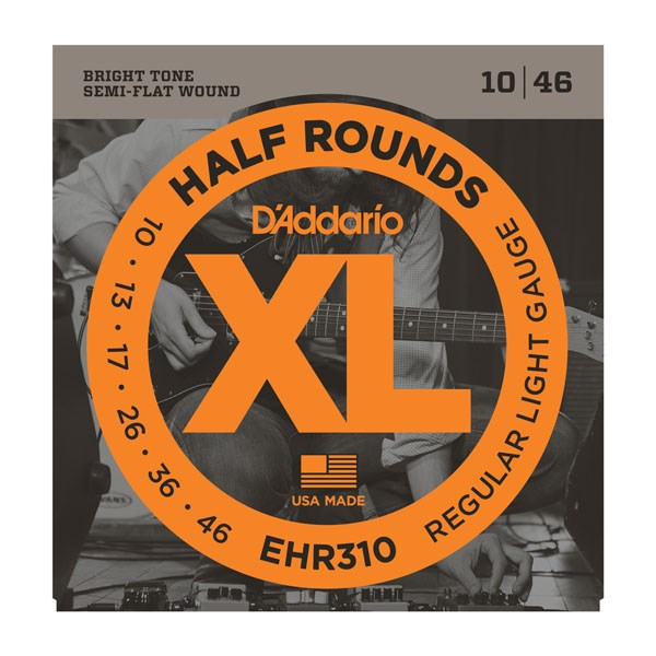 D'Addario EHR310 Half Round Regular Light Electric Guitar Strings