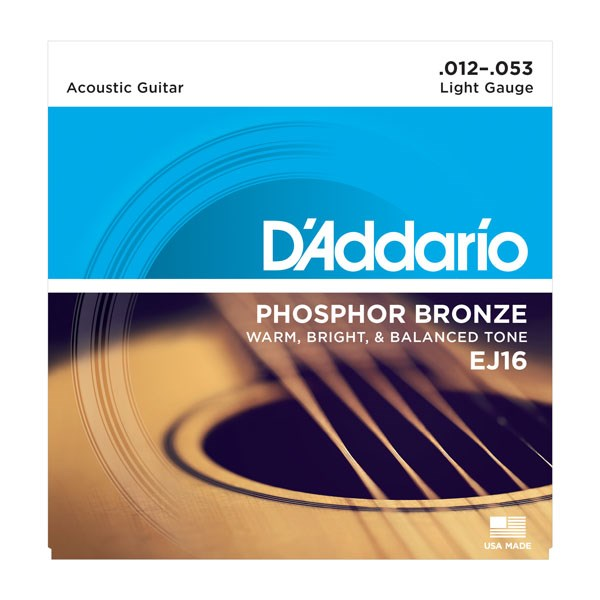 D'Addario EJ16 Phosphor Bronze Light Acoustic Strings
