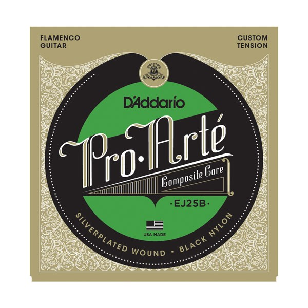 D'Addario EJ25B Pro-Arte Composites Flamenco Guitar Strings - Black