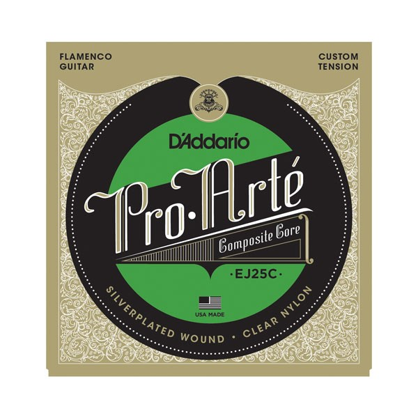 D'Addario EJ25B Pro-Arte Composites Flamenco Guitar Strings - Clear