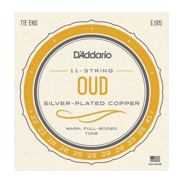 D'Addario EJ95 Silver Plated Copper Oud Strings