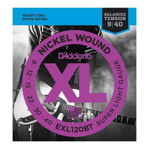 D'Addario EXL120BT Balanced Tension X-Lite Electric Guitar Strings
