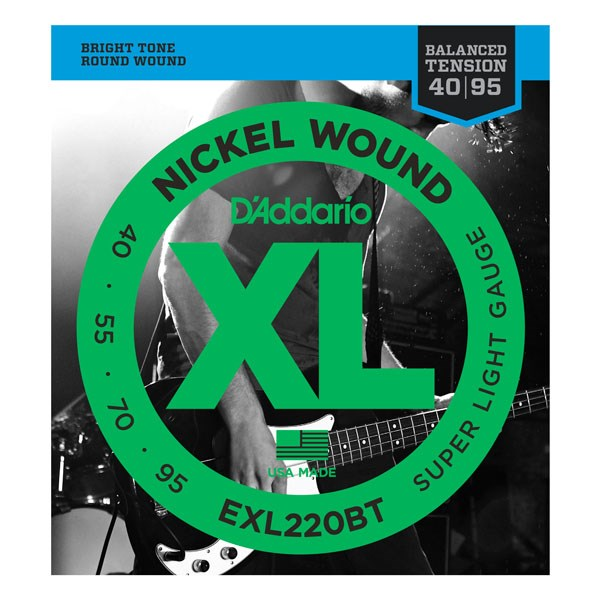 D'Addario EXL220M Super Light XL Nickel Wound Electric Bass Strings