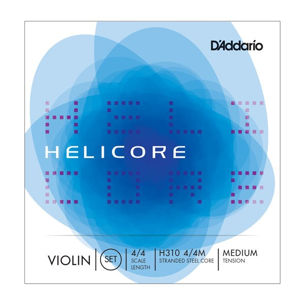 D'Addario H313 4/4M Helicore Violin D 4/4 Medium Tension Single String