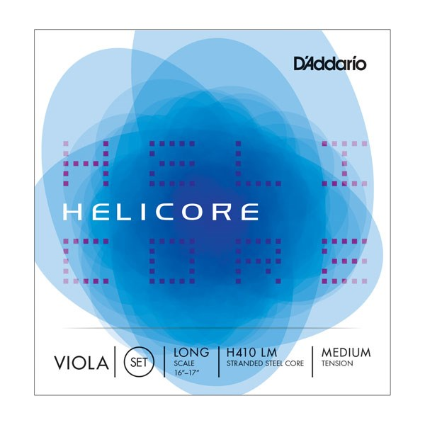 D'Addario H410 LM Helicore Viola String Set, Long Scale, Medium