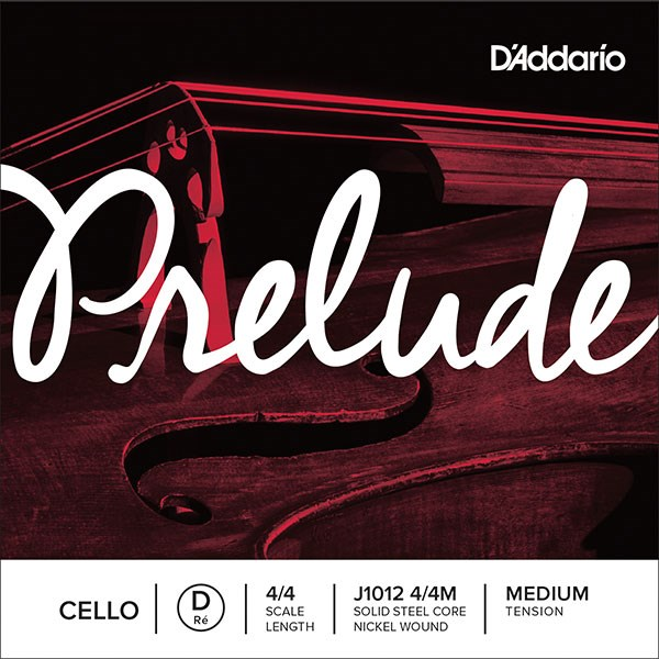 D'Addario J1012 4/4M Prelude Cello 4/4 Medium Tension Single D String