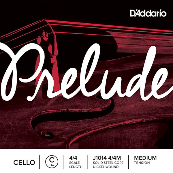 D'Addario J1013 4/4M Prelude Cello 4/4 Medium Tension Single C String