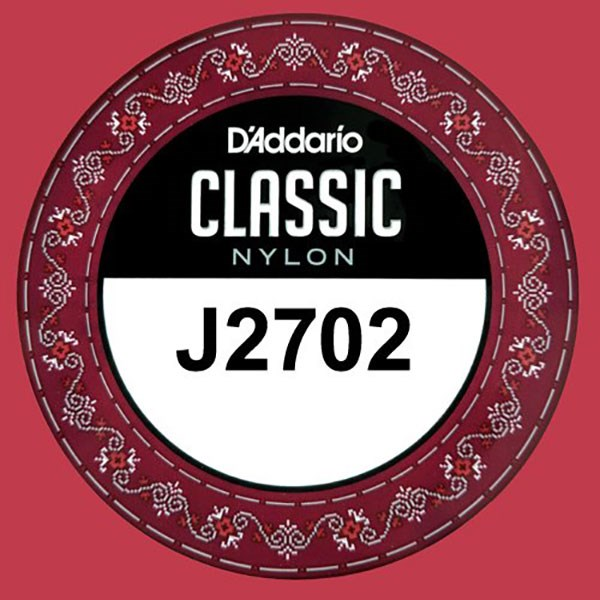 D'Addario J2702 Student Nylon Classical Guitar Single String, Normal Tension, B 2nd String