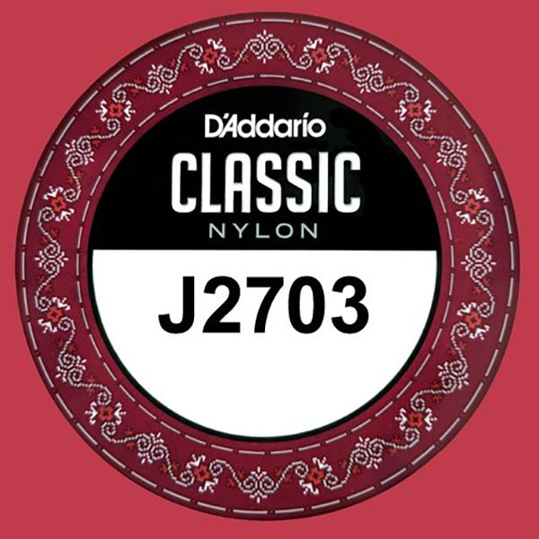D'Addario J2703 Student Nylon Classical Guitar Single String, Normal Tension, G 3rd String