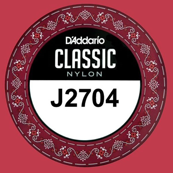 D'Addario J2704 Student Nylon Classical Guitar Single String, Normal Tension, D 4th String