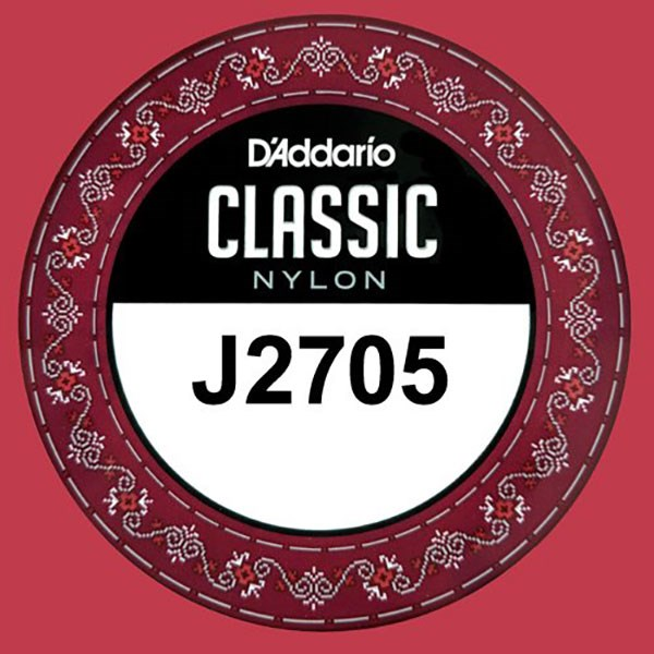 D'Addario J2705 Student Nylon Classical Guitar Single String, Normal Tension, A 5th String