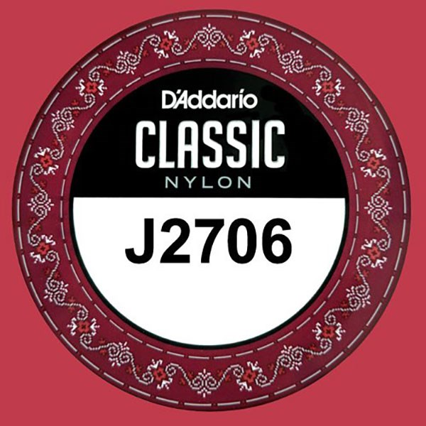 D'Addario J2706 Student Nylon Classical Guitar Single String, Normal Tension, E 6th String