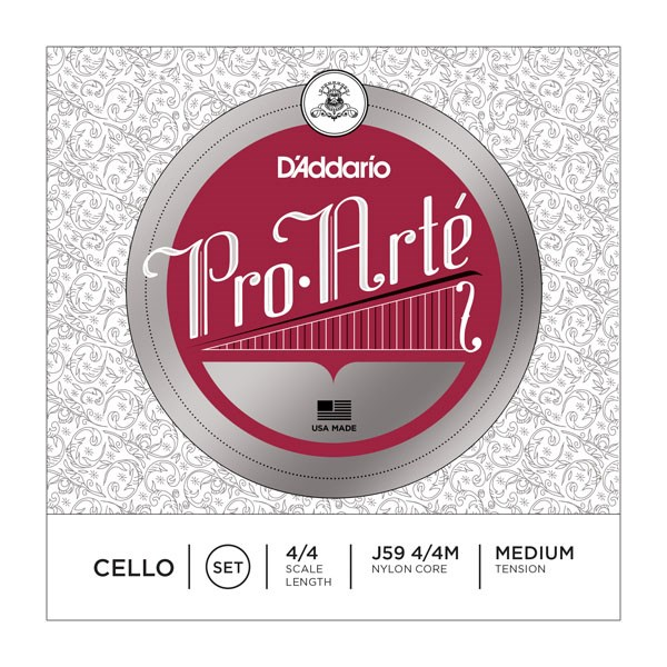 D'Addario J59 4/4M 4/4 Pro-Arte Medium Cello Strings