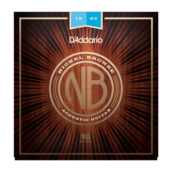 D'Addario NB1253 Nickel Bronze Acoustic Strings Light 12-53