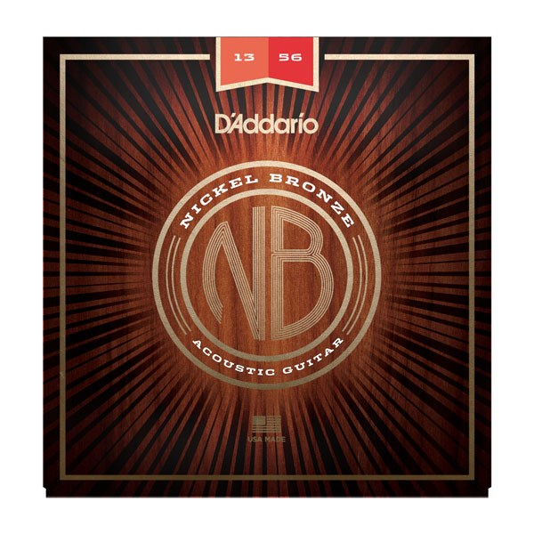 D'Addario NB1356 Nickel Bronze Acoustic Strings Medium 13-56
