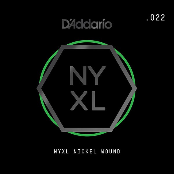 D'Addario NYNW022 NYXL Nickel Wound Electric Guitar Single String, .022