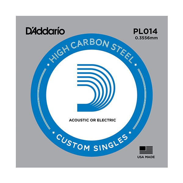 D'Addario PL014 Plain Steel Guitar Single String