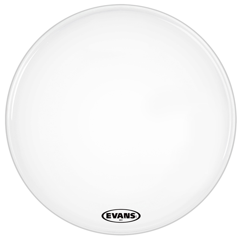Evans BD24MX1W MX124 Inch White Bass Drum Head