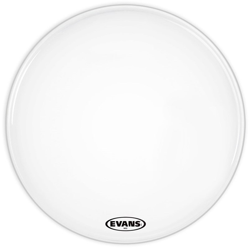 Evans BD32MX2W MX2 Smooth White 32-Inch Marching Bass Drum Head