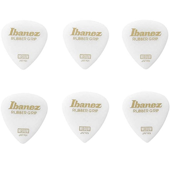 Ibanez PPA16MRG Grip Wizard Flat Pick Rubber Grip Medium 0.8mm - Pack of 6
