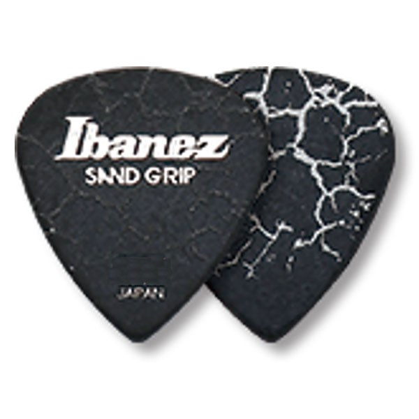 Ibanez PA16MCG Flat Pick Sand Grip Crack Model Medium 0.8mm