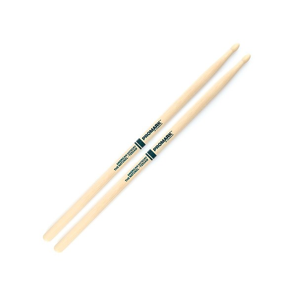 Promark TXR5AW American Hickory Natural Drumsticks - Wood Tip
