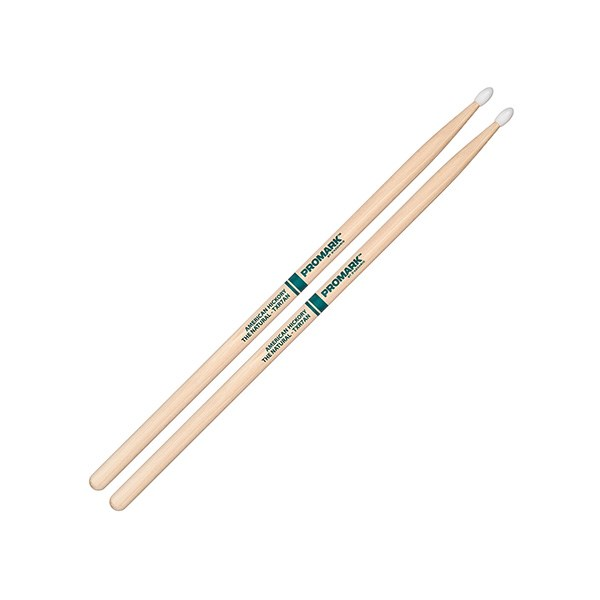 Promark TXR7AN American Hickory 7A Natural Drumsticks - Nylon Tip