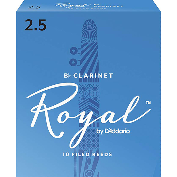 D'Addario Rico RCB1025 Royal BB Clarinet Reeds Strength 2.5 - 1 Piece<br>RCB1025