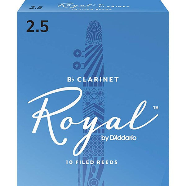 D'Addario Rico RCB1025 Royal BB Clarinet Reeds Strength 2.5 - 1 Piece