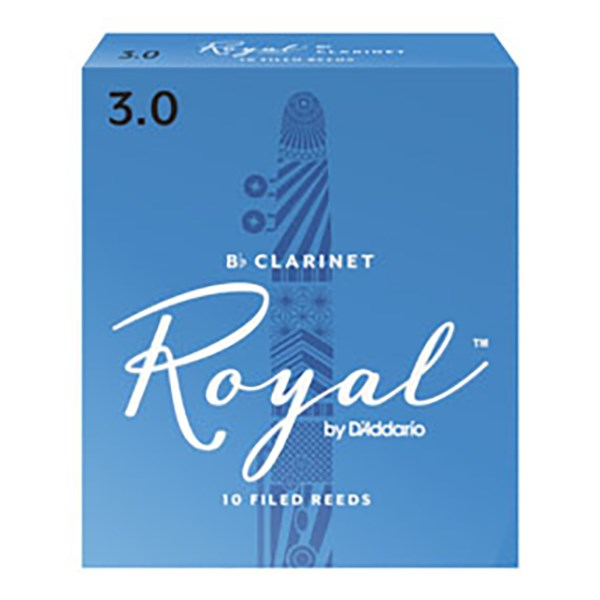 D'Addario Rico RCB1030 Royal BB Clarinet Reeds Strength 3.0 - 1 Piece