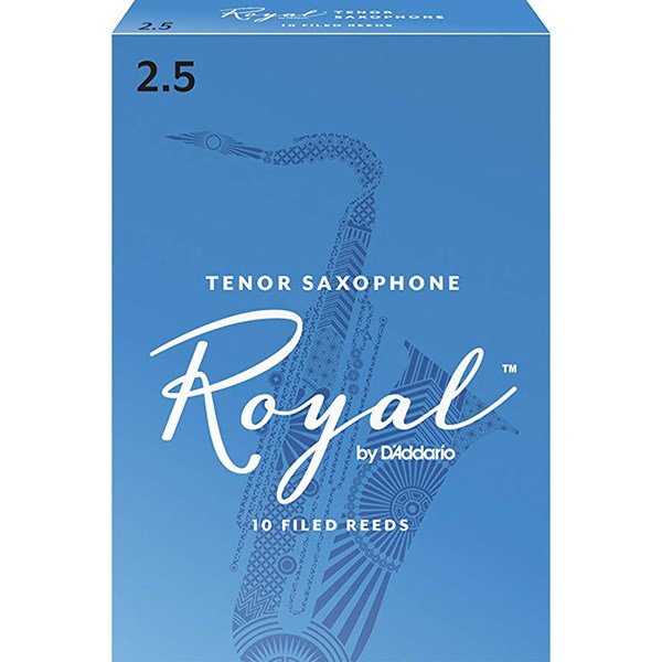 D'Addario Rico RKB1025 Royal Tenor Sax Reeds, Strength 2.5 - 1 Piece