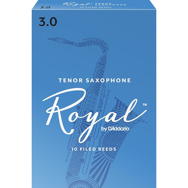 D'Addario Rico RKB1030 Royal Tenor Sax Reeds, Strength 3.0 - 1 Piece
