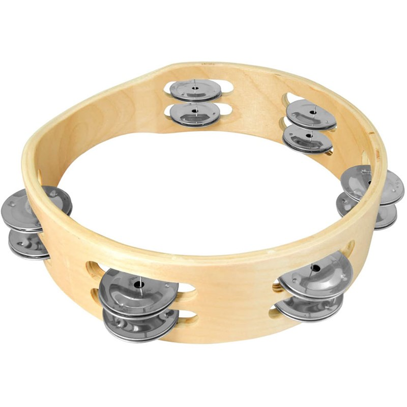 Rockstar T812 Tambourine Headless Double Row 8-inch 12 Bells