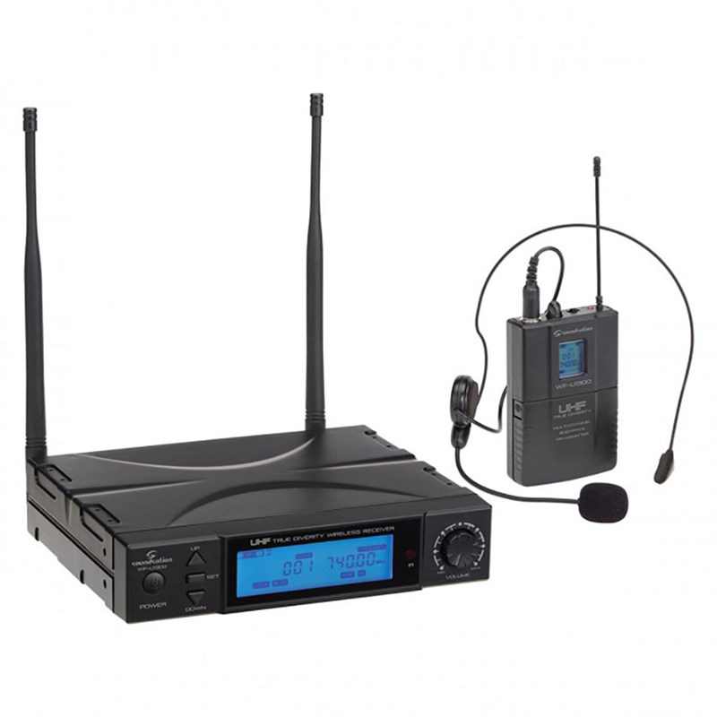 Signature WF-U1300P True Diversity UHF Wireless System 300CH Pocket Microphone 823-832 MHz