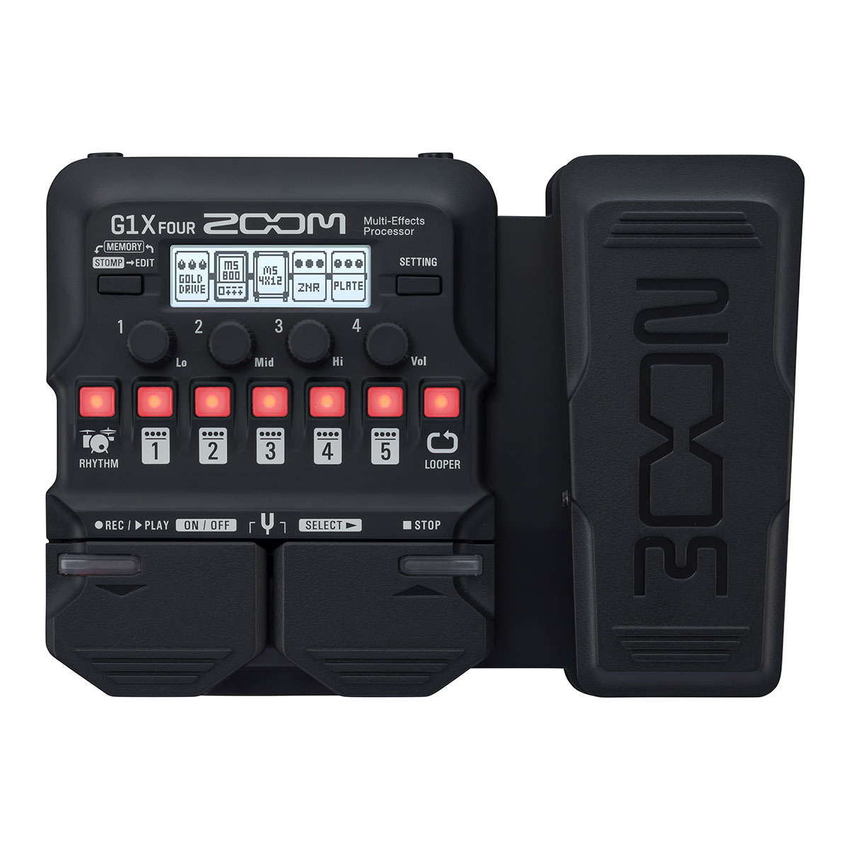 Zoom G1X FOUR Multi-effects Processor with Expression Pedal<br>G1X FOUR