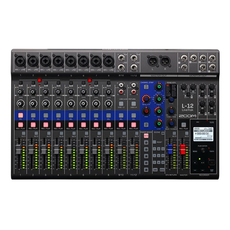 Zoom L-12 LiveTrak 12-channel Digital Mixer / Recorder