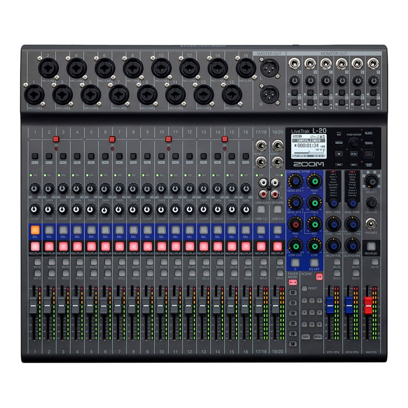 Zoom  L-20 LiveTrak20-channel Digital Mixer / Recorder