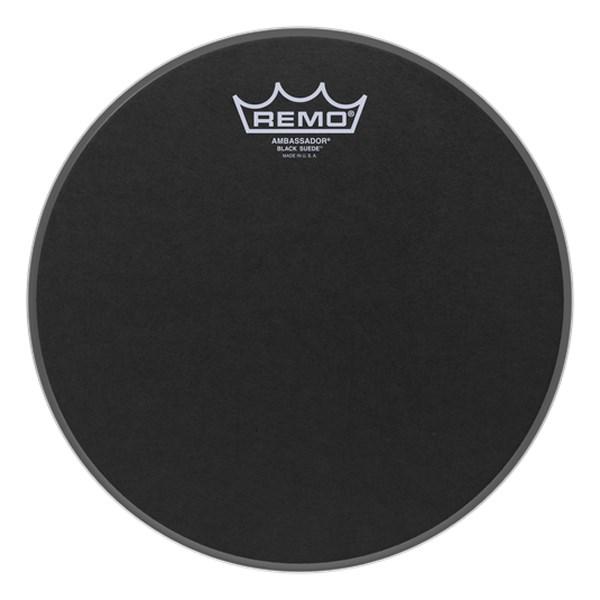 Remo BA-0810-ES 10inch Black Suede Ambassador Batter Drumhead