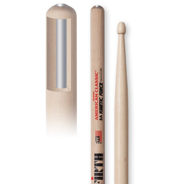 Vic Firth 5AKF American Classic Kinetic Force Drumsticks - Wood Tip