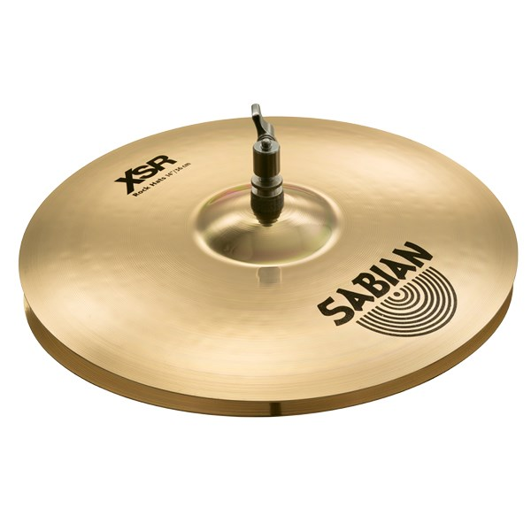 Sabian XSR1403B 14-Inch XSR Rock Hat Cymbals - Brilliant Finish
